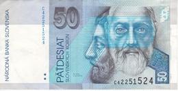 BILLETE DE ESLOVAQUIA DE 50 KORUN DEL AÑO 1995 (BANK NOTE) - Eslovaquia