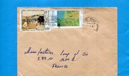 Marcophlie-lettre Congo-cad- 1981-2-stamps- Master's Picture N°520 Durer+625 Oiseau - Other