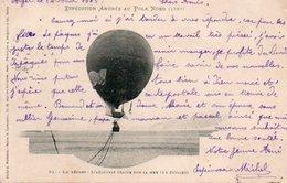 86Cpt  Expedition Andrée Au Pole Nord 1897 Aerostat Ballon Dirigeable Sur La Mer - Unclassified