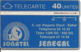 CARTE-HOLOGRAPHIQUE-SENEGAL-40U-SONATEL-V°N° Envers N°205G30679-UTILISE-TBE - Sénégal