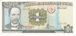 BILLETE DE CUBA DE 1 PESO DEL AÑO 1995 DE JOSE MARTI (BANKNOTE) SIN CIRCULAR-UNCIRCULATED - Cuba