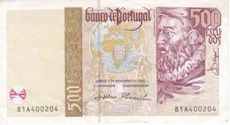 BILLETE DE PORTUGAL DE 500 ESCUDOS DEL AÑO 2000  (BANKNOTE) - Portugal