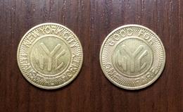 NEW YORK CITY METRO SUBWAY TOKEN TRANSIT AUTHORITY GOOD FOR ONE FARE USA JETON GETTONE Metal Ø22,2mm 1980-1985 - USA