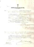 1885 , EJÉRCITO DE ULTRAMAR EN CUBA , PARTIDA DE DEFUNCIÓN DE SOLDADO ESPAÑOL EN LA ISLA - Documentos Históricos