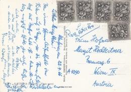 PORTUGAL 1966 - 5 Fach Frankierung Auf Ak ALBUFEIRA Gel.v. Portugal > Wien IX - 1910-... Republik