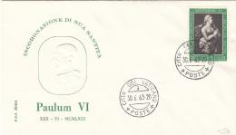 VATICANE 1963  - Paulum VI Poste Citta Del Vaticano - Vatikan
