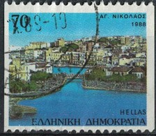 Grèce 1988 Oblitéré Used Ville De Agios Nikolaos Crète SU - Usados