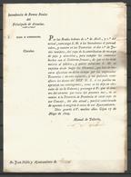 1829 , PRINCIPADO DE ASTURIAS, INTENDENCIA DE RENTAS REALES , CIRCULAR - PAJA Y UTENSILIOS - Documentos Históricos