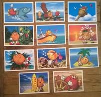 Lot De 11 Cartes Postales Publicitaires KID De DANONE - Advertising