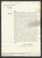 1829 , PRINCIPADO DE ASTURIAS, INTENDENCIA DE RENTAS REALES , CIRCULAR - VOLUNTARIOS REALISTAS - Documentos Históricos