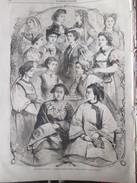 Gravure 1867 Exposition Universelle De PARIS   Costumes Nationaux  Femmes  Traditions Women Woman Féminisme - Vieux Papiers