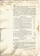 1835 , 1ª GUERRA CARLISTA , CIRC.  INTENDENCIA. AUTORIZACIÓN CIRCULACIÓN DE MONEDAS DE ORO , PLATA Y COBRE PORTUGUESAS - Documentos Históricos