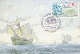 Carte-Maximum WALLIS Et FUTUNA N° Yvert 429(CHRISTOPHE COLOMB)obl Ill 1er Jour (Caravelles) - Storia Postale
