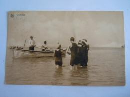 Ostende Oostende Baigneur Bateau De Sauvetage Animée Baaders Plage Nels Thill Série Ostende 58 Circulée 1913 - Oostende
