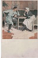 Deutchland - Infirmière - Soldat Blessé , Krankenschwester - Soldaten - Jouent Aux écheques - Spiele Die Schlingen -1917 - Guerre 1914-18