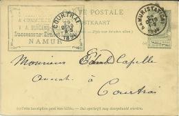 Namur >> Kortrijk 1894 - Postwaardestukken