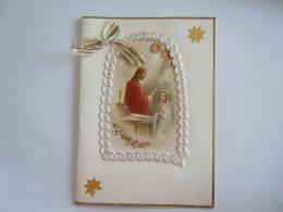Carte De Voeux Communion Wenskaart Gefeliciteerd Communie Circa 1955 Form 10,5 X 14,5 Cm - Communie