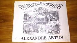 SOUVENIR DE BIARRITZ . QUADRILLE BASQUE . ALEXANDRE ARTUS . PARTITIONS - Réf. N°L184 - - Partitions Musicales Anciennes