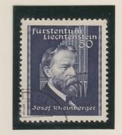 LIECHTENSTEIN 1938:  50 Rp, Bleu Foncé  (ZNr 140), Oblitéré - Gebraucht