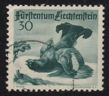 LIECHTENSTEIN 1950:  30 Rp, Vert (ZNr 233), Oblitéré - Gebraucht