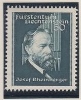 LIECHTENSTEIN 1938:  50 Rp Bleu-vert  (ZNr 143), Neuf** - Liechtenstein