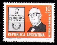 ARGENTINE   N° 1059 * * Prix Nobel Houssay Medecine - Geneeskunde