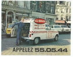 Publicité Dépannage Home Service Lille - Renault 4l Utilitaire Réparation Et Travaux à Domicile.Plomberie - Old Paper