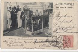 """Cp Souvenir De Venise - Machine à Glace DOUANE à Bord Du Croiseur Italien  """" Piemonte """" - Souvenir De..."""