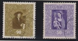 LIECHTENSTEIN 1949:  'Tableaux'  50c Et 90c  (ZNr 221 Et 224),  Oblitérés - Gebraucht