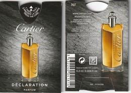 """Tout Nouveau Puffer  De CARTIER  """"DECLARATION """" R/V - Cartes Parfumées"""