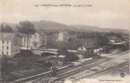 88  LAVELINE Devant BRUYERES  La Gare Et L' Hôtel - France