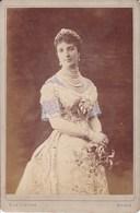 ROMA ROME Reine D'ITALIE Photo CDV Format CABINET Par  LE LIEURE Vers 1878 - Personalità
