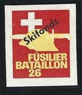 Suisse WWII Vignette Militaire Soldatenmarken INFANTERIE / INFANTRY Fine H - Vignettes