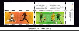 CANADA - 1996 OLYMPIC GAMES / WOMEN'S FOOTBALL - SE-TENANT 2V MNH - 1952-.... Reign Of Elizabeth II
