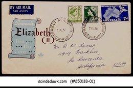 AUSTRALIA - 1957 QUEEN ELIZABETH II SPECIAL COVER WITH CANCELLATION - 1952-65 Elizabeth II : Pre-Decimals