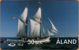 Aland - GPT, 2FINC, The Galley Albanus, 25,000ex, 5/90, Mint - Aland