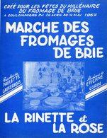 77 COULOMMIERS - Marche Des Fromages De Brie - Fêtes Du Millénaire, Mai 1967 - Paroles De Paulette LAUXERROIS - 3 Scans - Coulommiers