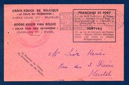 Croix-Rouge De Belgique. Bon Pour Un Colis Envoyé Au Stalag II B, Hammerstein (Czarne, Pologne).23 Janvier 1943 - Documents