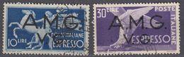 VENEZIA GIULIA, OCCUPAZIONE ANGLOAMERICANA - 1945/1947 -  Serie Completa Yvert 1/2 Espresso, Usati. - Trieste