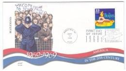 Sc#3188o Celebrate The Century 1960s, Beatles Yellow Submarine, Music, C1990s FDC Cover - 1991-2000