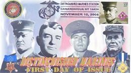 DISTINGUISHED  MARINES  FDC - 2001-2010