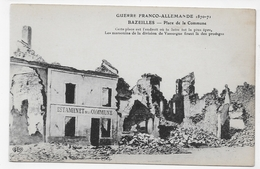 BAZEILLES - GUERRE 1870 / 1871 - PLACE DE LA COMMUNE - ESTAMINET - CPA NON VOYAGEE - France