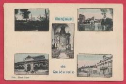 Quièvrain - Bonjour De ... - Carte Multivues -1911 ( Voir Verso ) - Quiévrain