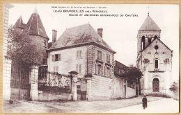 X24144 Peu Commun BOURDEILLES Près PERIGUEUX Dordogne Eglise Anciennes Dépendances Château 1900s Henry GUILLIER - Altri Comuni