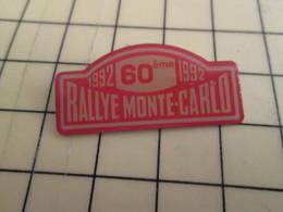 Pin1016a : Pin's Pins / RARE & BELLE QUALITE / THEME : AUTOMOBILE / 60e RALLYE DE MONTE-CARLO MONACO - Rallye