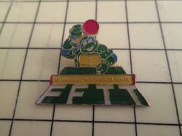Pin1016b : Pin's Pins / RARE & BELLE QUALITE / THEME : SPORTS / TENNIS DE TABLE FFTT TORTUE NINJA - Table Tennis