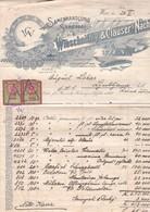 2245   WIEN   RECHNUNG-FAKTURE    --LJUBLJANA - Autriche