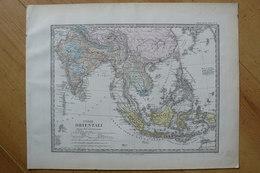 Indes Orientales ( Inde - Bornéo - Siam - Etc.) - Belle Carte De 1871 - Stieler / Giusto Perthes (voir Description) - Geographical Maps
