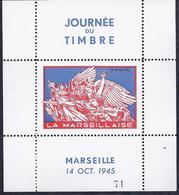 Bloc Feuillet Journée Du Timbre De 1945 Marseille La Marseillaise Draim - Liberation