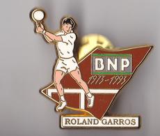 PIN'S   THEME  TENNIS ROLAND GARROS SIGNE ARTHUS BERTRAND   SPONSOR BNP - Tennis